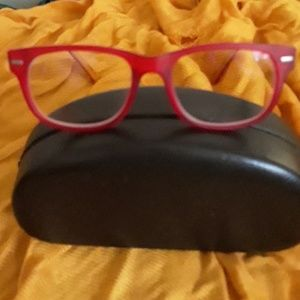 Betsey Johnson Red Matte frame Glasses